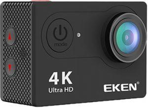 كاميرا اكشن ايكين4k H9R للتصوير تحت الماء وتدعم واي فاي 12 ميجا بكسل عدسه وايد انجل 170 درجه