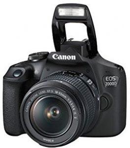 كانون كاميرا اي او اس بعدسات 2000 دي 18-55 اي اس، دقة وضوح 24.1 ميجا بكسل، كاميرا دي اس ال ار، اسود