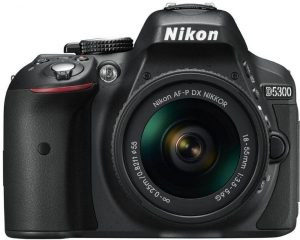 كاميرا نيكون D5300 AF-P مع معدات عدسة 55 – 18 ملم 3.5-5.6G، بدقة 24 ميجابكسل اس ال ار، اسود